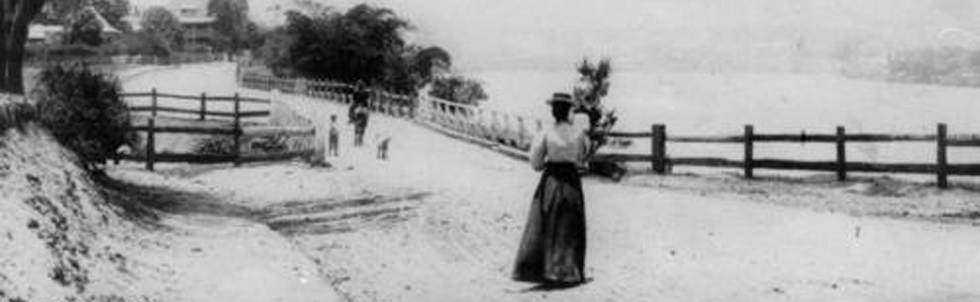 A walk on River Road (now Coronation Drive) at Milton, in 1902